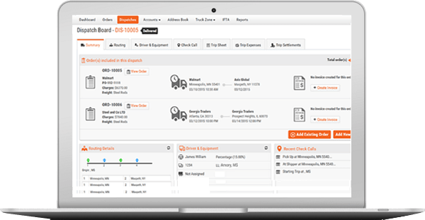 Cloud-based trucking management software | Free 15 days trial